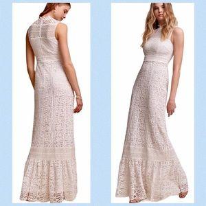 Anthropologie BHLDN Ojai Crochet Wedding Dress 10